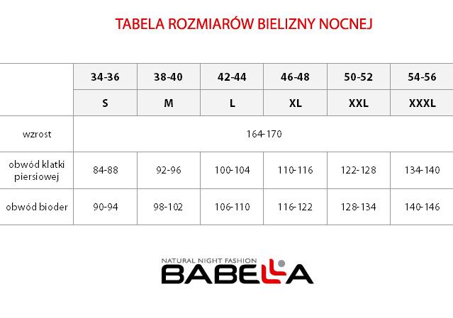 babell tabela rozmiarów